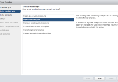 Custom deployment using VMware VM Template
