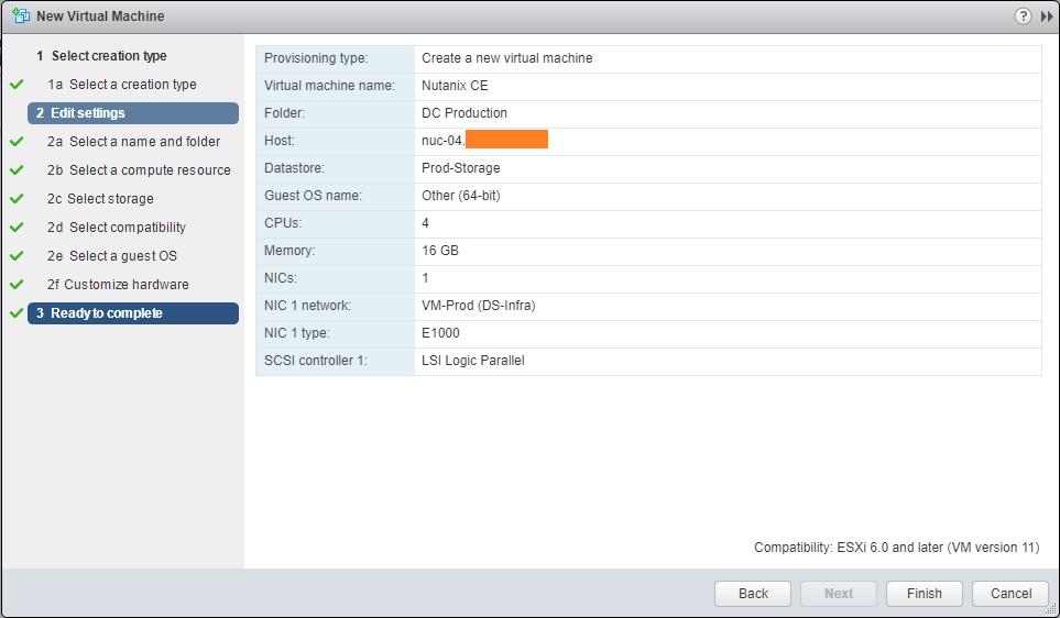 domalab.com Deploy Nutanix nested VMware summary