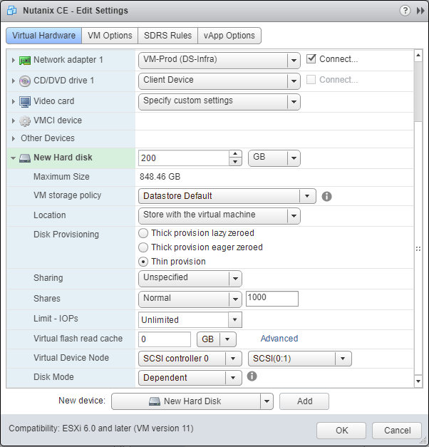 domalab.com Deploy Nutanix nested VMware add disk performance