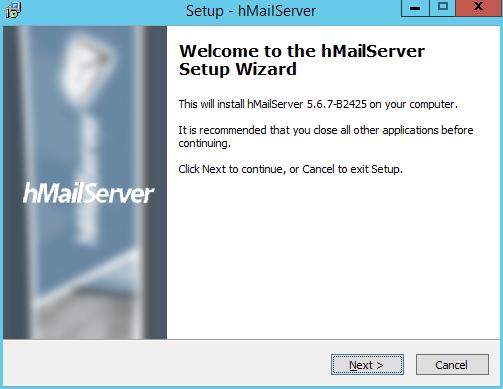 domalab.com install hMailServer wizard