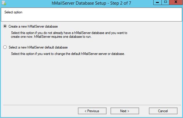 domalab.com install hMailServer create database