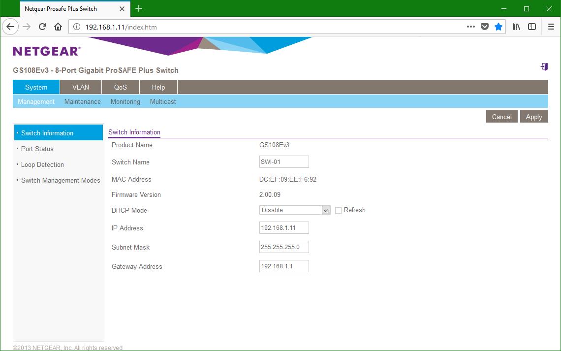 domalab.com Netgear firmware Web GUI