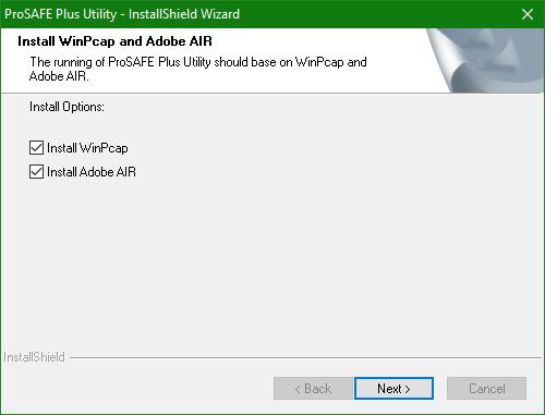 domalab.com Netgear firmware install ProSafe Plus WinPcap Adobe AIR