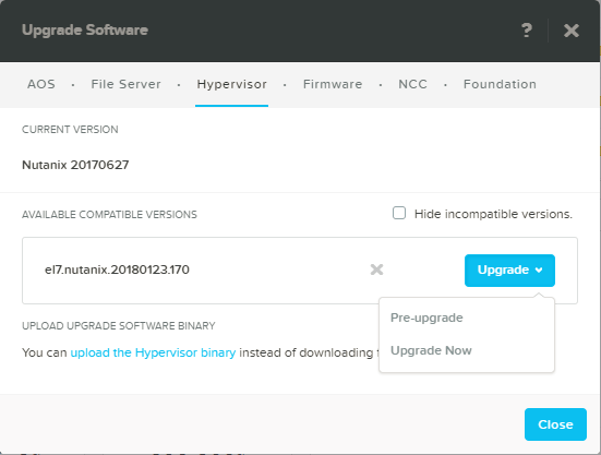 domalab.com Upgrade Nutanix AHV pre-upgrade