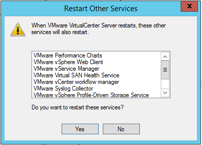 domalab.com VMware Host disconnects vCenter service dependancies