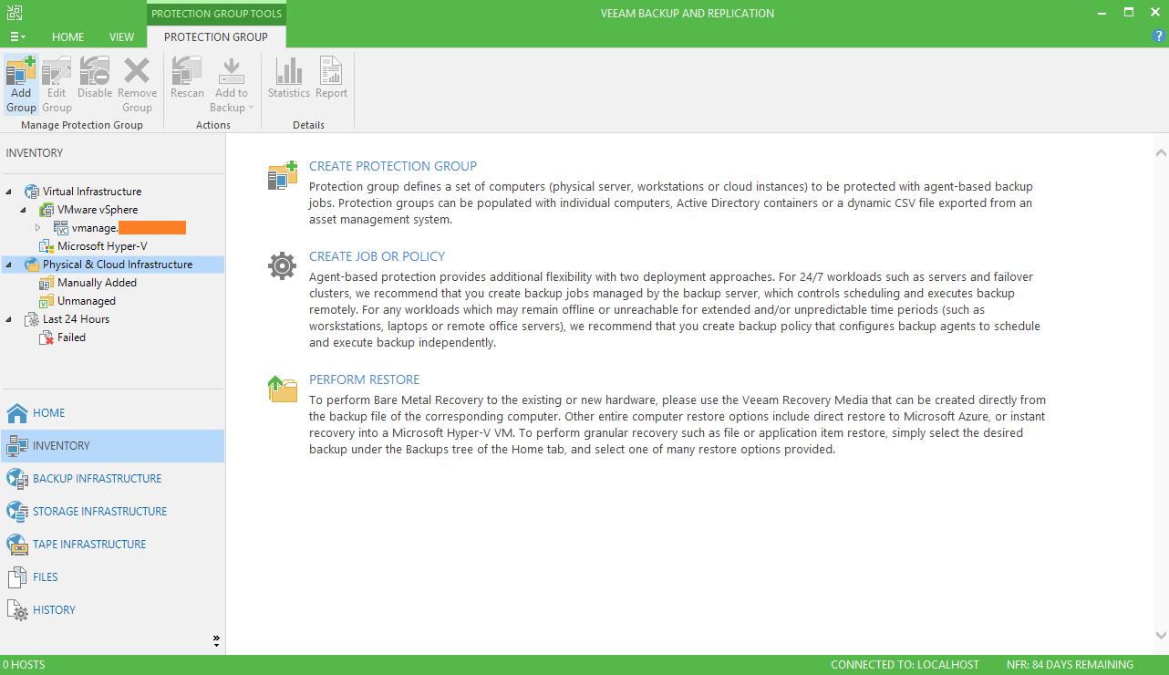domalab.com Backup SQL cluster Veeam Protection Group