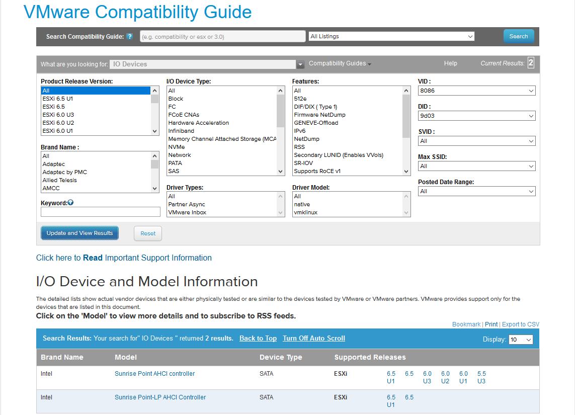 domalab.com Upgrade vSphere 6.5 VMware compatibility guide