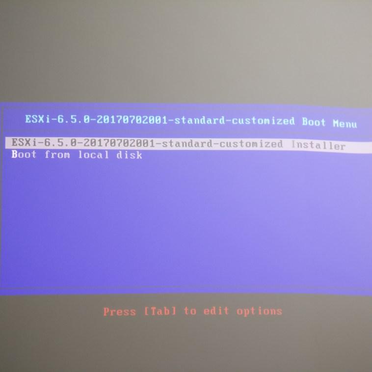 domalab.com Upgrade vSphere 6.5 ESXi installer wizard