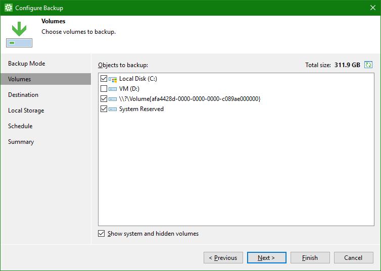 domalab.com OneDrive Windows Backup volume selection