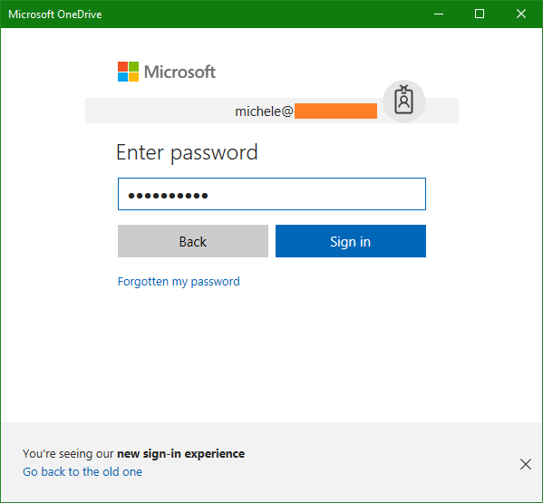 domalab.com OneDrive Windows Backup account password