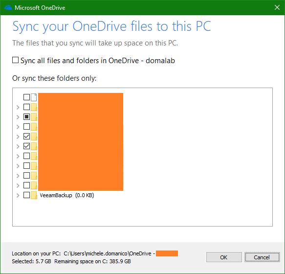 domalab.com OneDrive Windows Backup folder configuration
