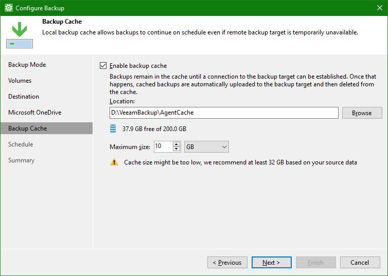 domalab.com OneDrive Windows Backup cache