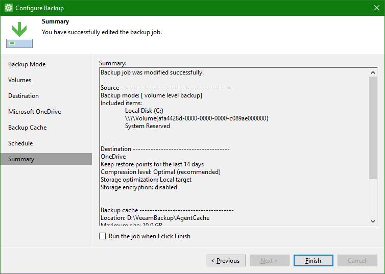 domalab.com OneDrive Windows Backup summary