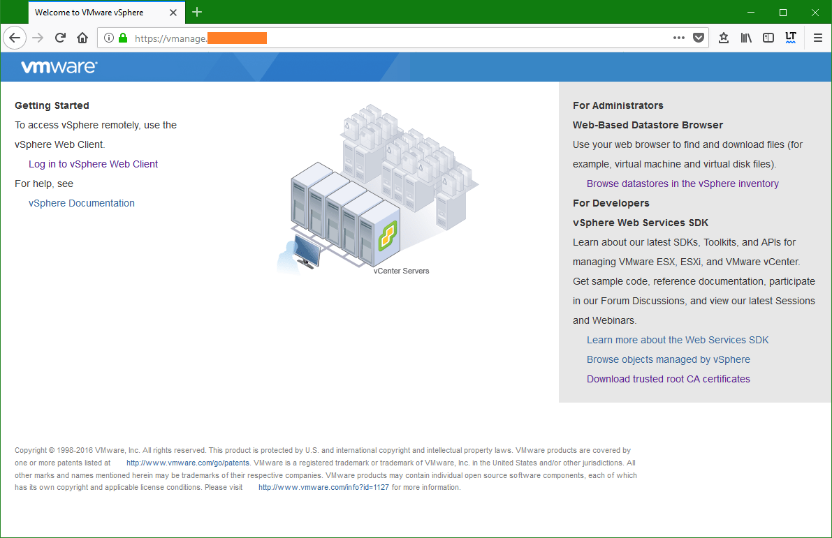 domalab.com Trusted Root CA Certificate vCenter firefox
