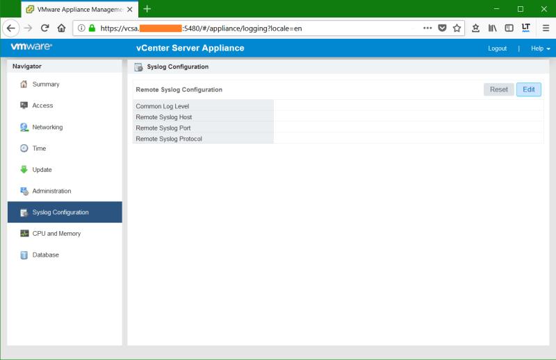 domalab.com Synology Syslog config VMware VCSA