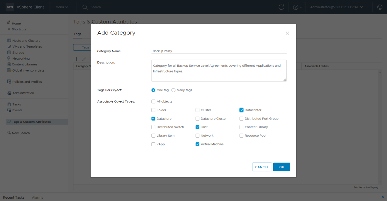 domalab.com VMware vSphere Tags add category object