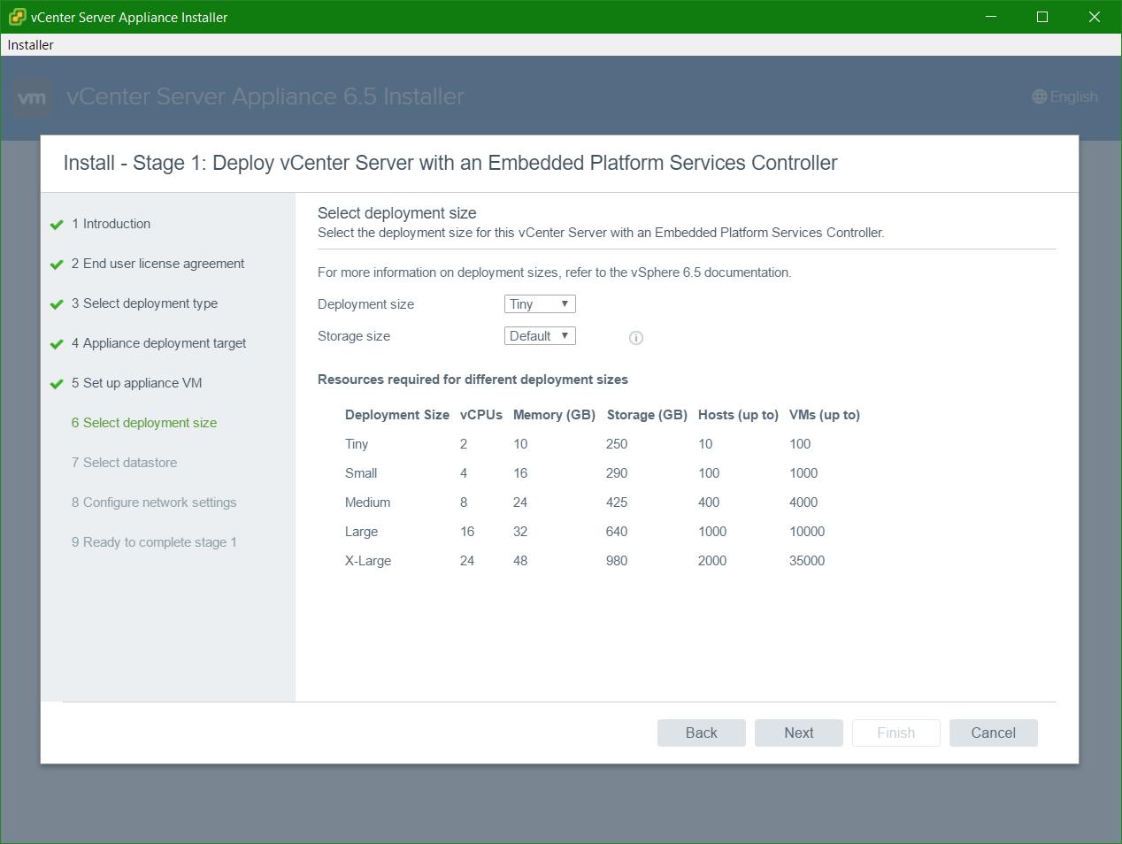 domalab.com VCSA install deployment type