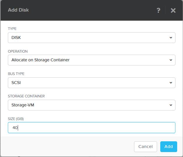 domalab.com Nutanix Windows AHV guest add scsi disk