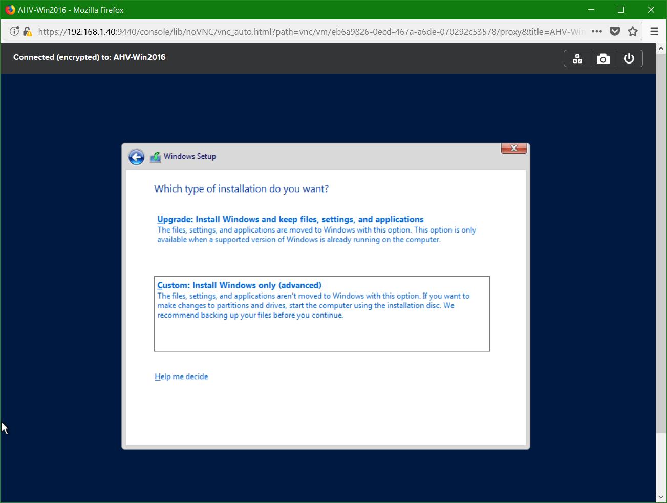 domalab.com Nutanix Windows AHV guest custom install