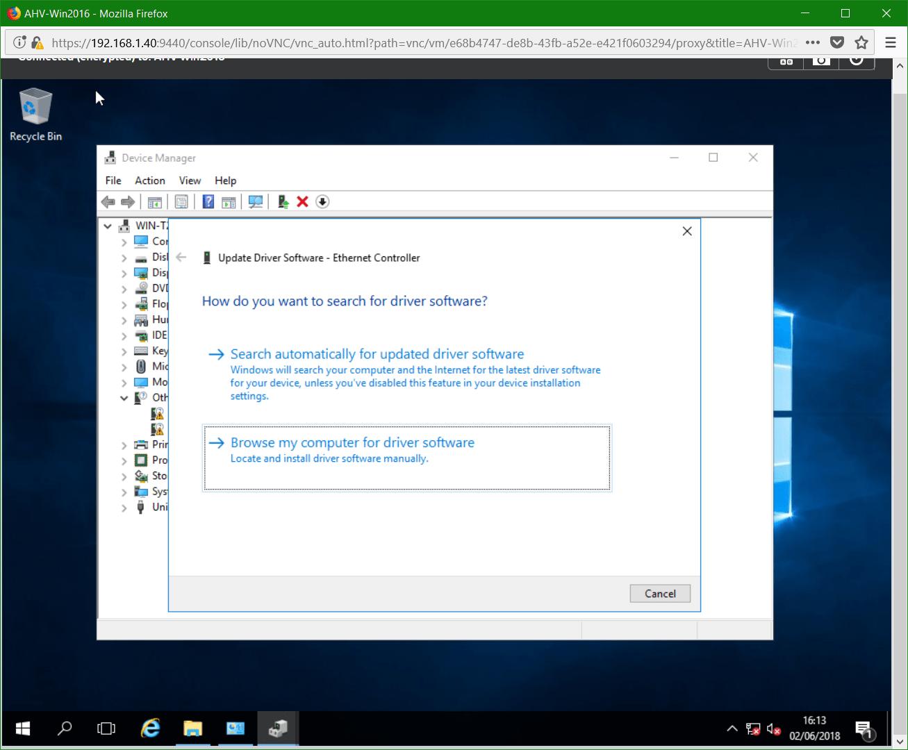 domalab.com Nutanix Windows AHV browse drivers