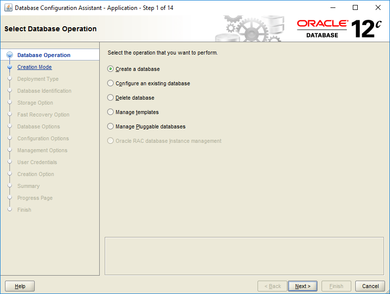 domalab.com create oracle database operation