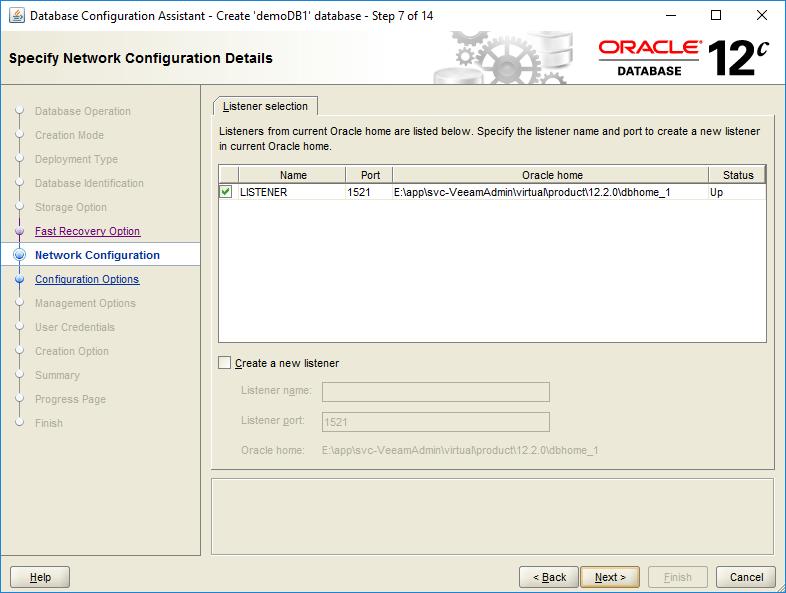 domalab.com create oracle database network configuration