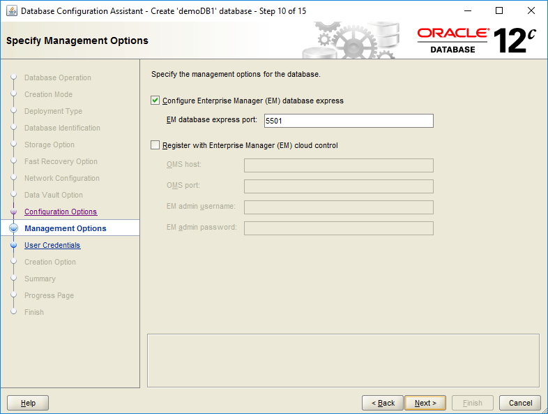 domalab.com create oracle database management options
