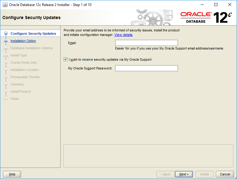 domalab.com Install Oracle configure security updates