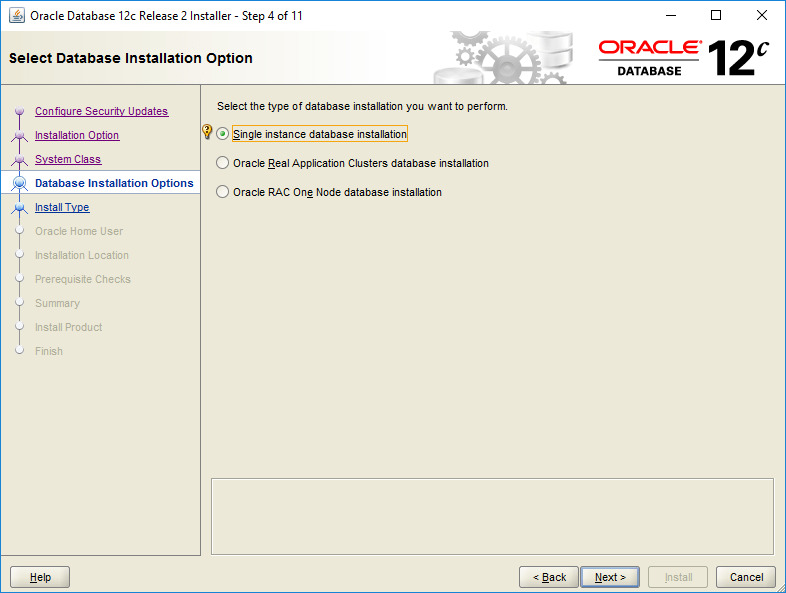 domalab.com Install Oracle database installation option