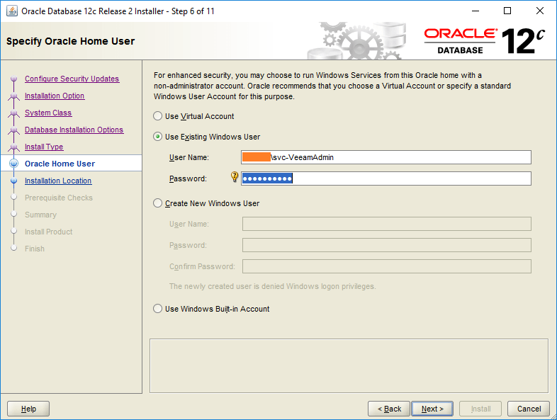 domalab.com Install Oracle home user