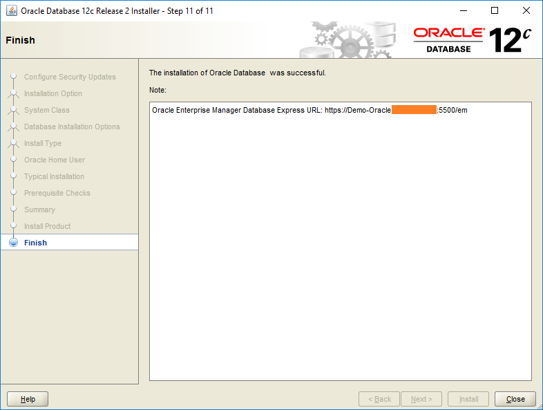 domalab.com Install Oracle finish