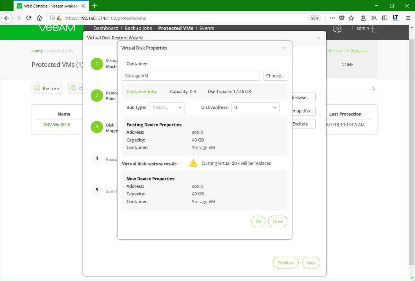 domalab.com Restore Nutanix AHV virtual disk properties