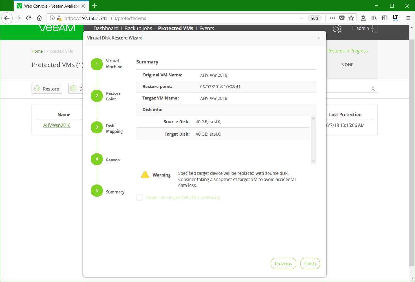 domalab.com Restore Nutanix AHV summary