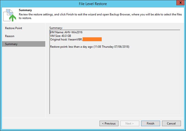 domalab.com Restore Nutanix AHV file level summary