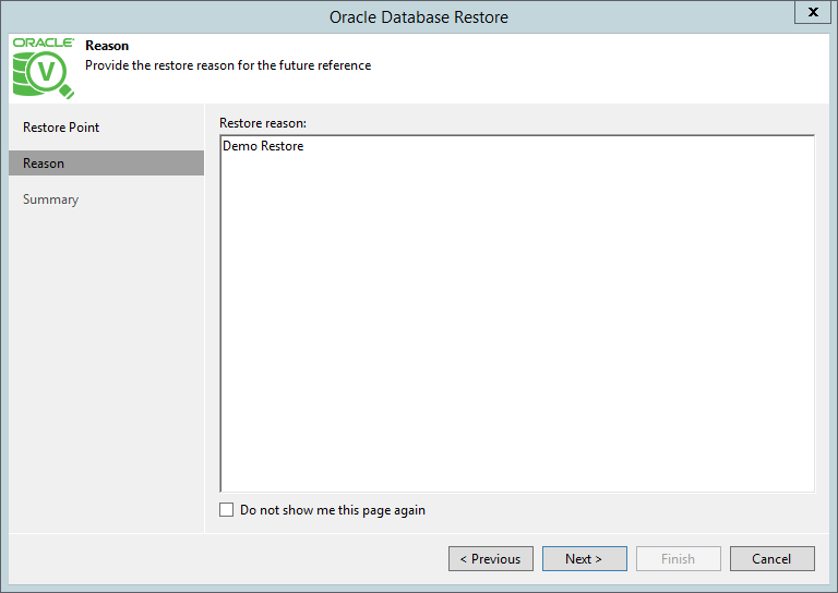 domalab.com Restore Oracle restore reason