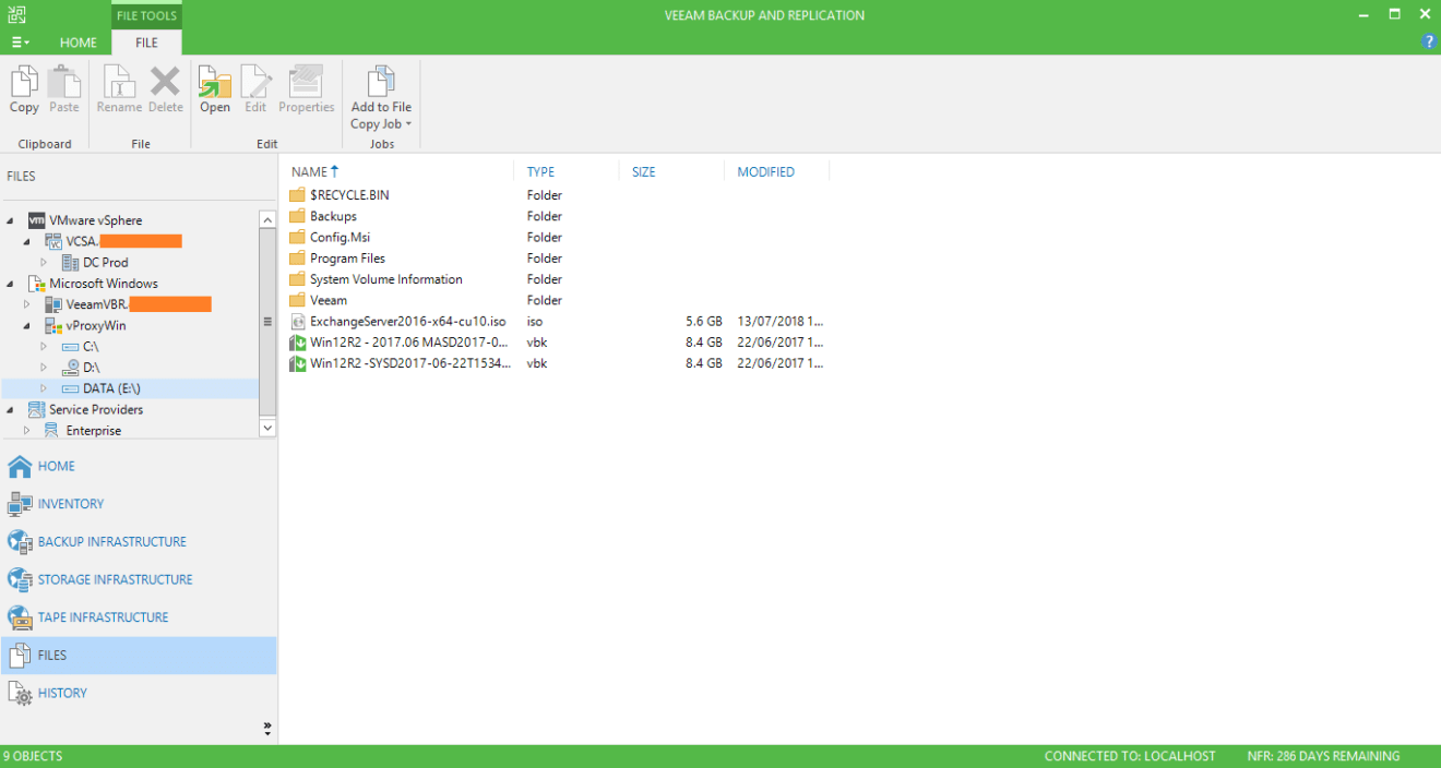domalab.com veeam copy files view