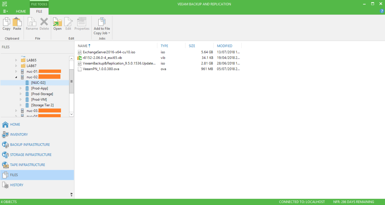 domalab.com veeam copy files into host