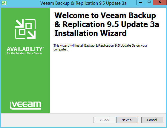 Veeam Backup upgrade: how to install 9.5 update 3a