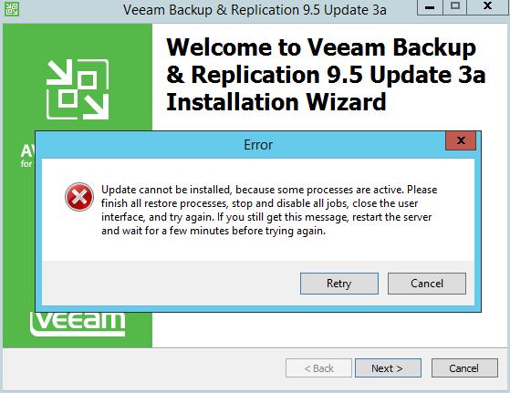 domalab.com Veeam Backup upgrade wizard