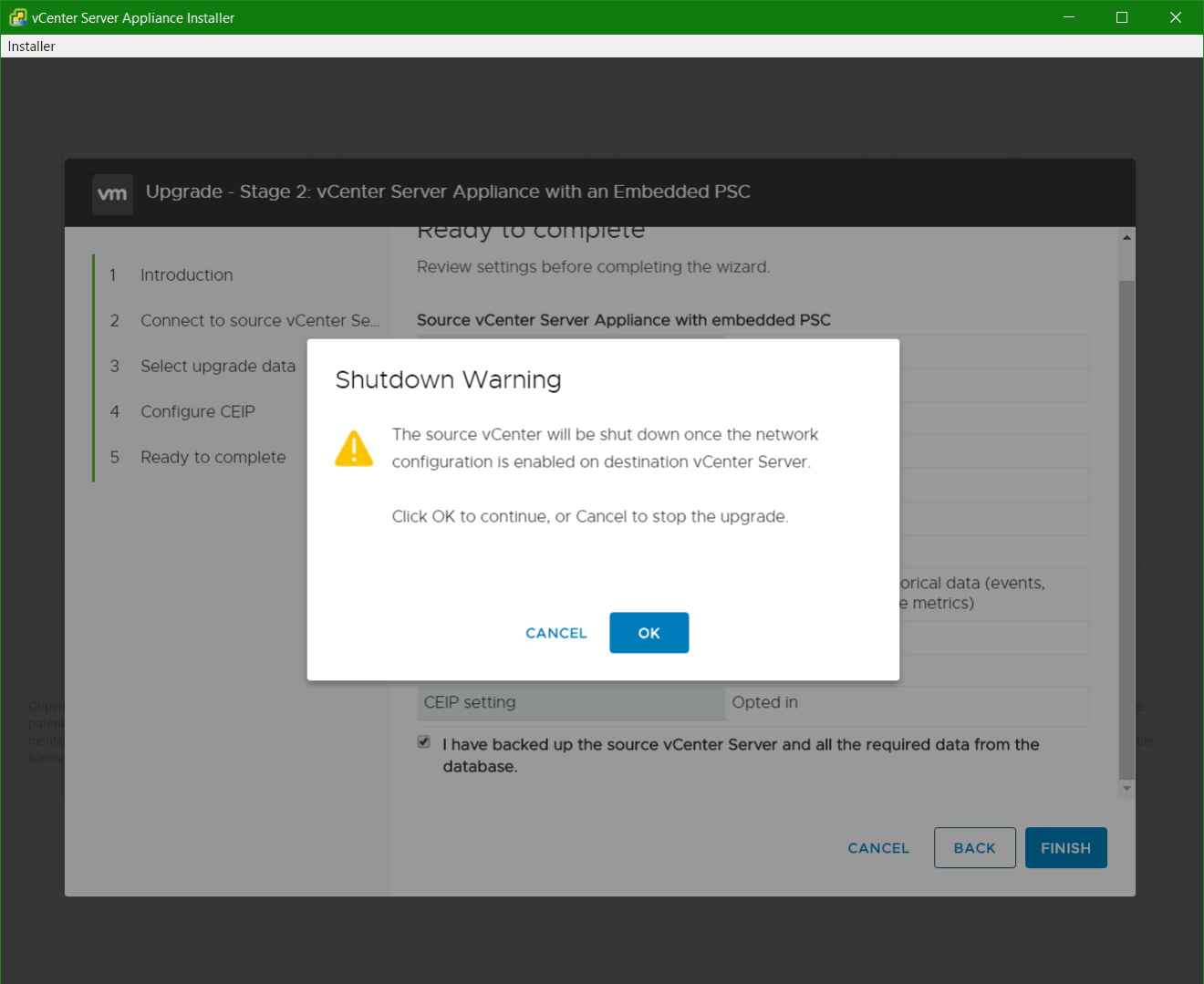 domalab.com vmware vcsa upgrade stage 2 shutdown