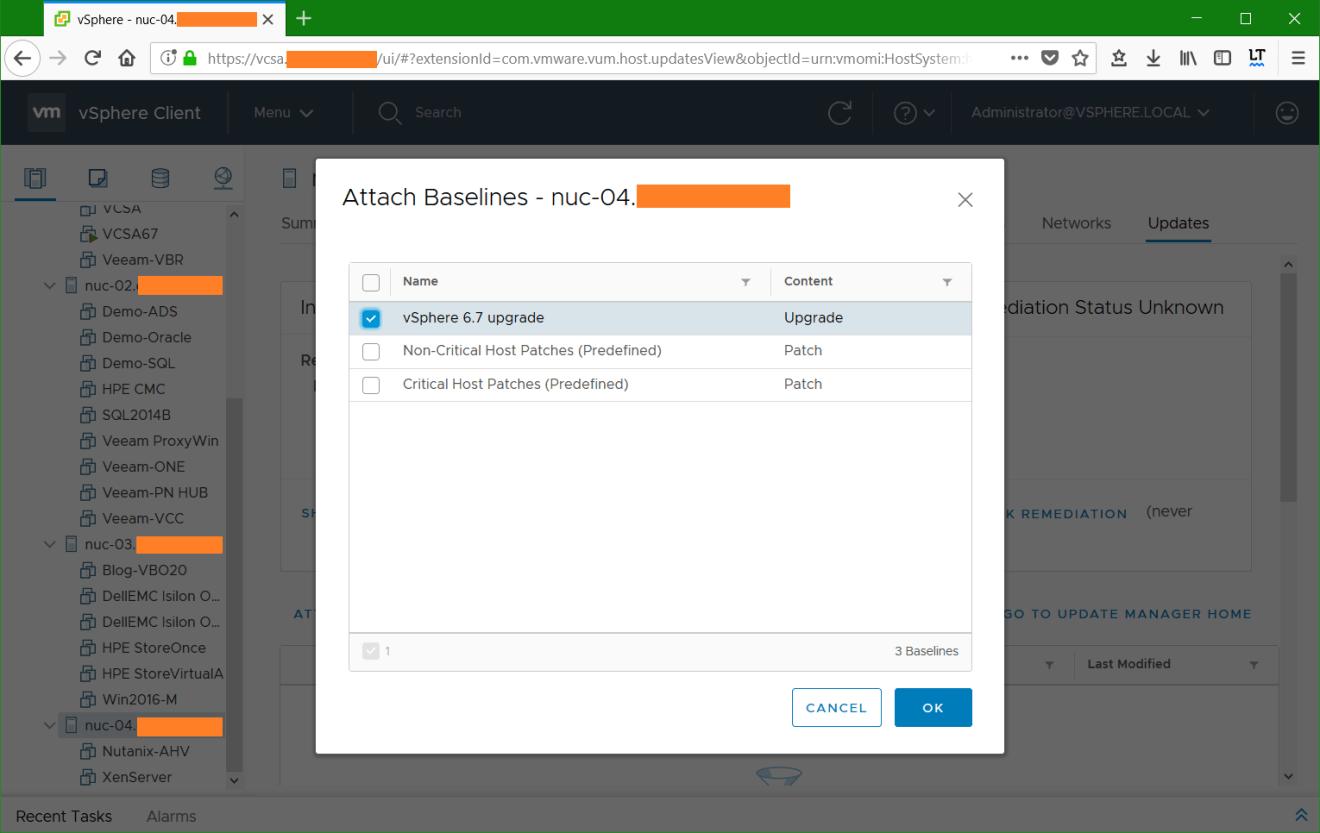 domalab.com VMware vSphere host custom baseline attach