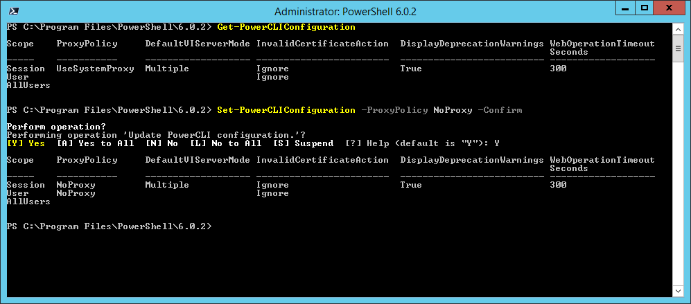 domalab.com Install VMware PowerCLI Policy result