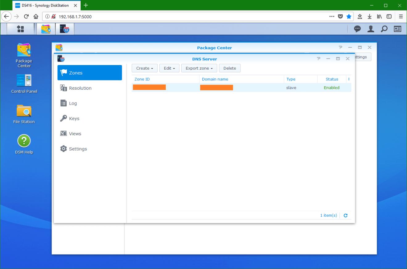 domalab.com Synology DNS server