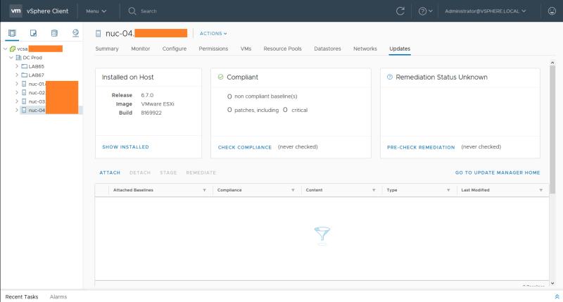 domalab.com install vSphere Patches VUM