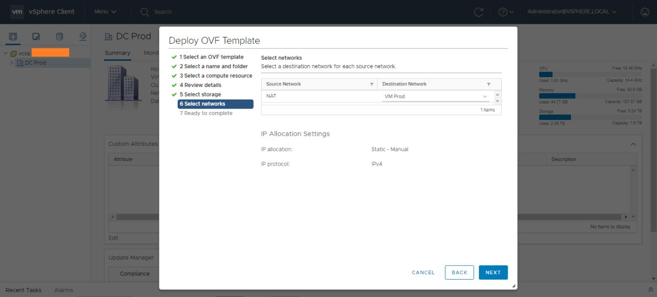 domalab.com AWS Storage Gateway select network