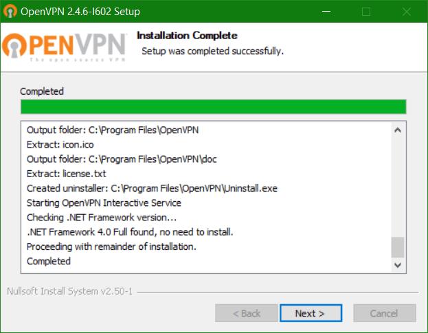 domalab.com Veeam PN Client OpenVPN install progress