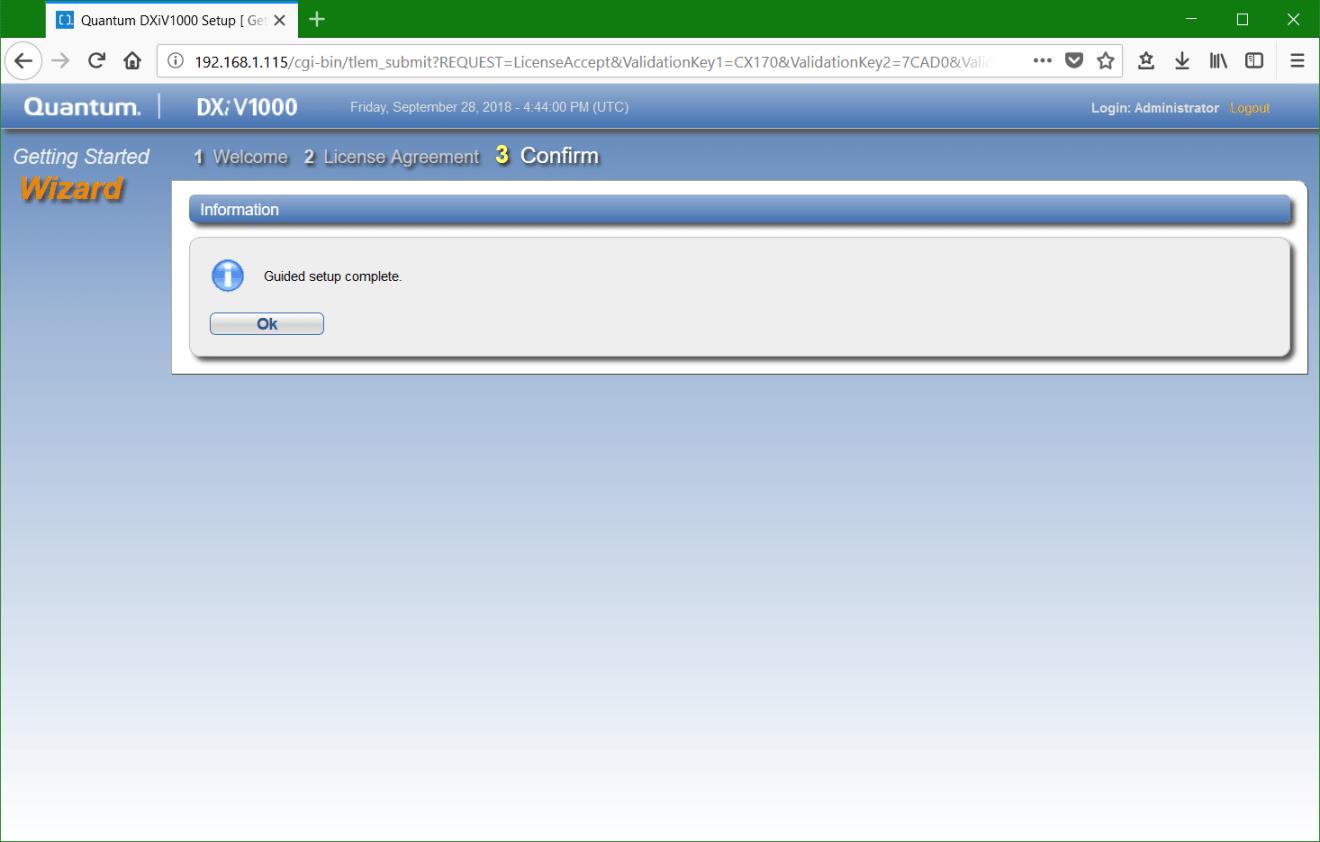 domalab.com Quantum DXi v1000 setup completed