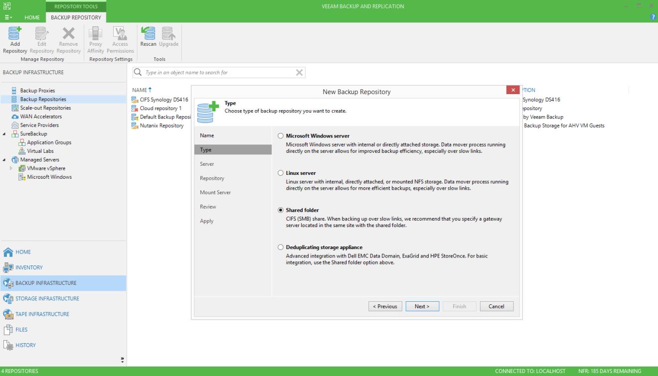 domalab.com Quantum DXi integration Veeam shared folder