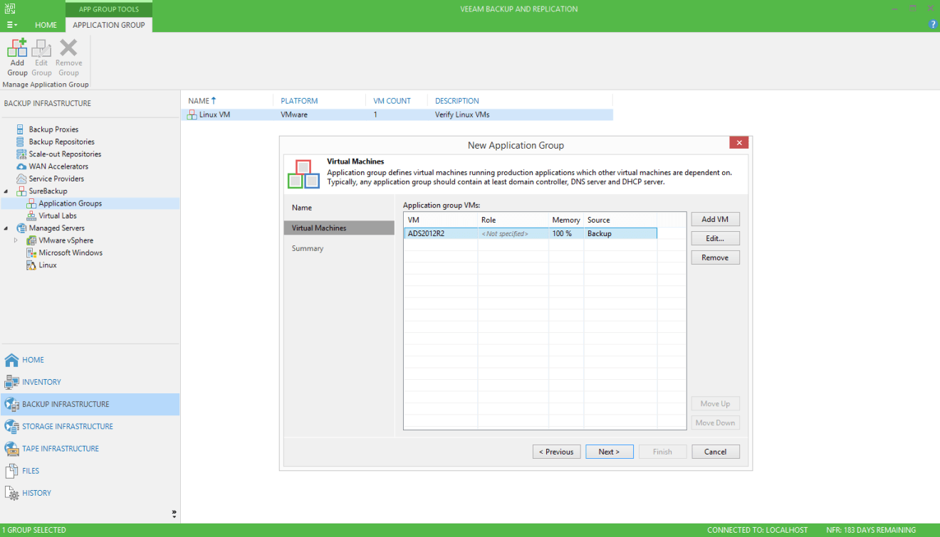 domalab.com Veeam SureBackup for Domain Controller add virtual machines