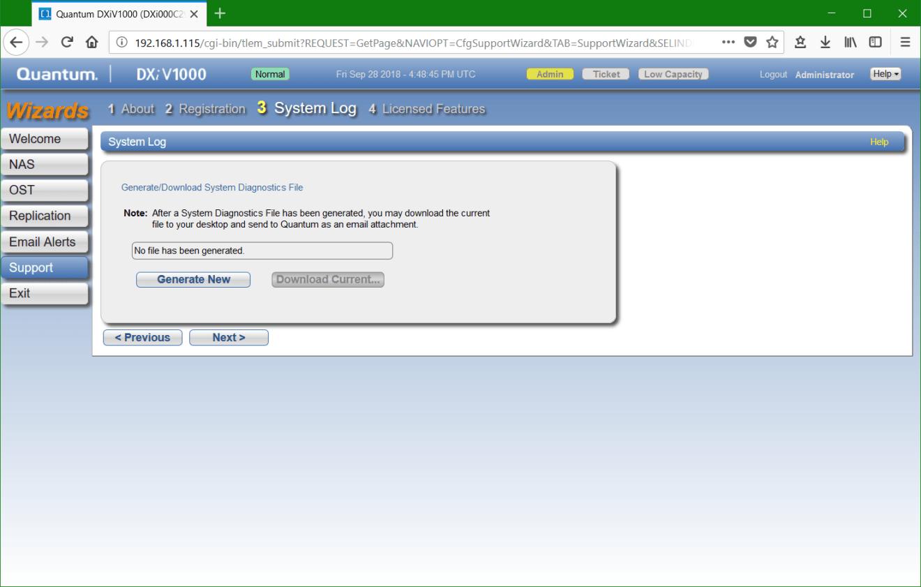 domalab.com update Quantum DXi generate file